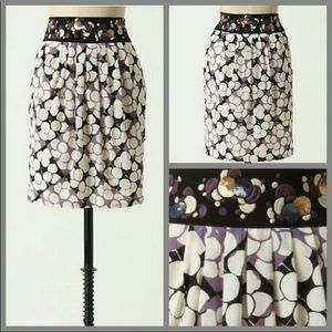 Anthro Floreat 100% Silk Embroidered Sequin Skirt